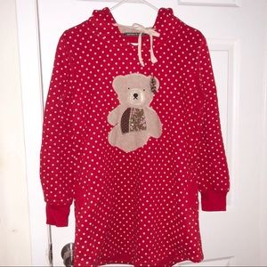 Tops - Red dotted hoodie Bear